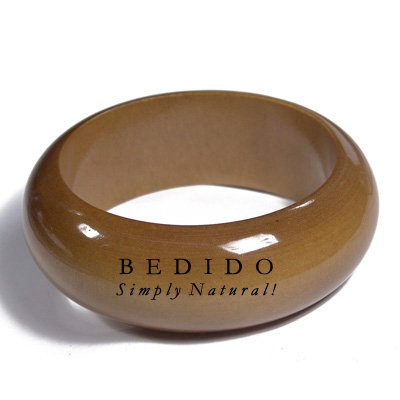 Golden Oak Tone Clear Stained Bangles