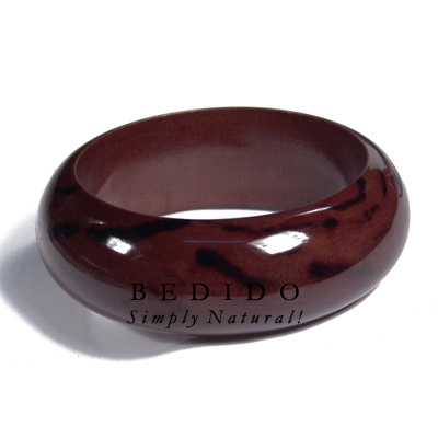Dark Walnut Tone Wooden Stained Bangles
