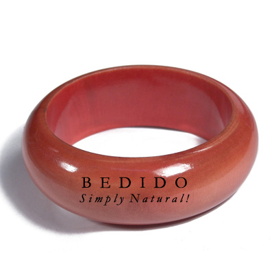Light Red Mahogany Tone Stained Bangles