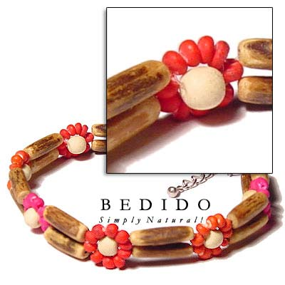 2 Rows Sig-id Wood Wooden Bracelets