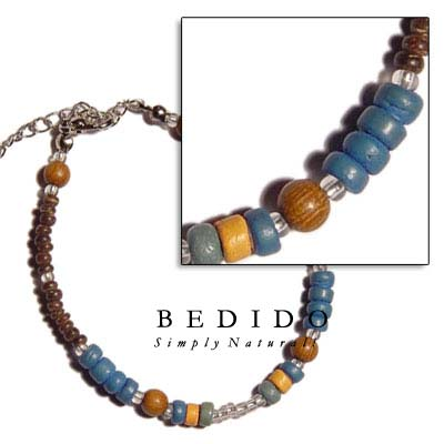 Wood Beads, 4-5mm & Wooden Bracelets