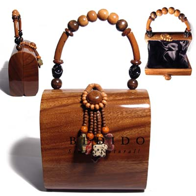 Collectible Handcarved Laminated Acacia Wooden Collectible Bags
