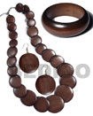Set Jewelry Stained Brown Wooden Jewelry Set Jewelry Products - Cebujewelry.com